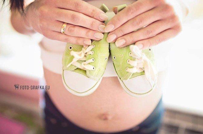 Zdjęcie ciążowe buciki